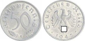 Third Reich 50 Pfennig 1941 A Xf-Bu / Prfr. (5) 35636