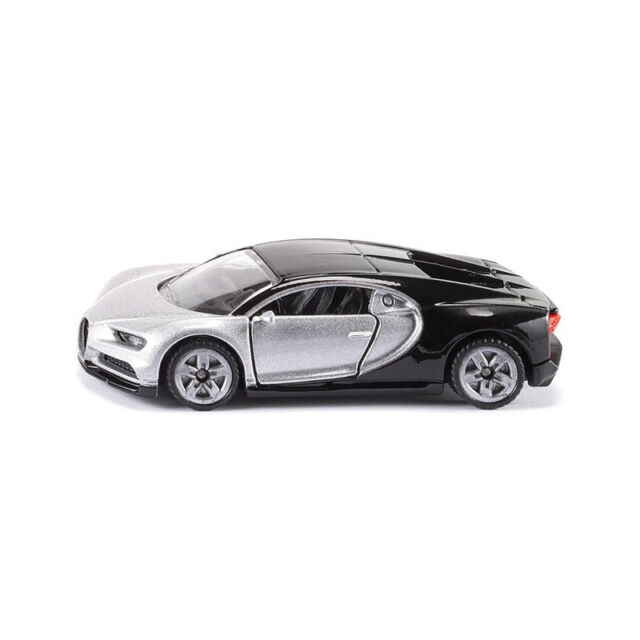 SIKU 1508 Bugatti Chiron Black Silver Model Car (Blister Pack) New! °