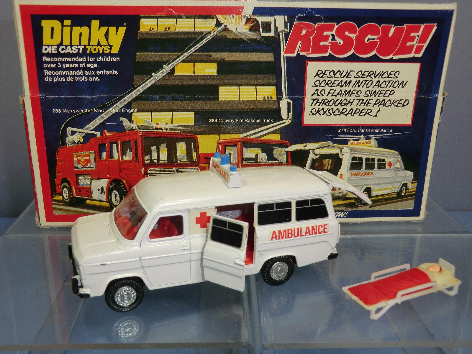 Schäbiges spielzeug - modell no.274 ford transit - ambulanz im mib