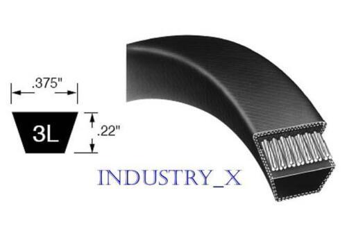 "3L Power Transmission V-Belt Any Size You Need 3//8/"" Multiple Lengths"
