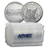 1 oz APMEX Silver Rounds .999 Fine (Lot, Roll, Tube of 20)