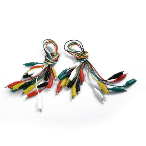 20pcs 50cm Doppelseitige Clips Kabel Alligator Prüfung Sonde Anschlussdraht