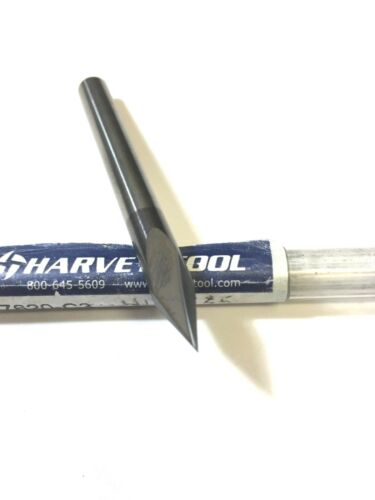 "1//4/"" Harvey Tool 47620-C3 AlTiN 2 Flute Chamfer Carbide End Mill S 1233"