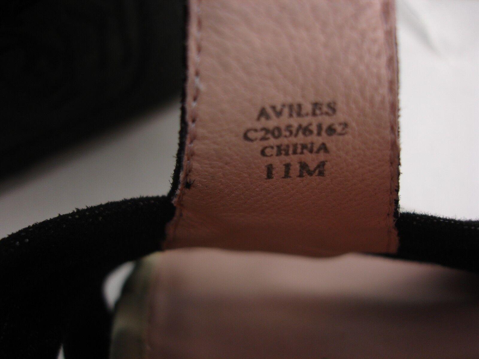 TARYN pink ALIVES BLACK SHIMMER SUEDE WEDGES T-STRAP T-STRAP T-STRAP SANDALS WOMEN'S 11 M 6adb24