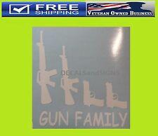 GUN FAMILY AR15 DECAL STICKER 2nd Amendment NRA Tactical Guns CCW Sniper Stick