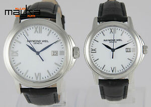 2-Watches-Raymond-Weil-Tradition-Steel-Quartz-Women-and-Men-5376M-5576M