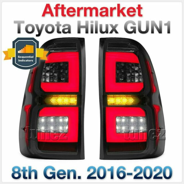LED Replacement Tail Lights For New Toyota Hilux 2015 - 2017 GUN1 Pair Lamp Rear