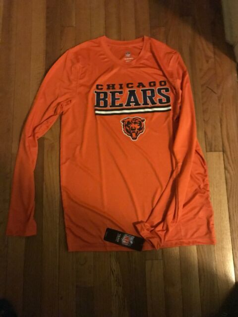 bde3df4c NFL Chicago Bears Boys Polyester Performance Tee T-shirt Orange XL