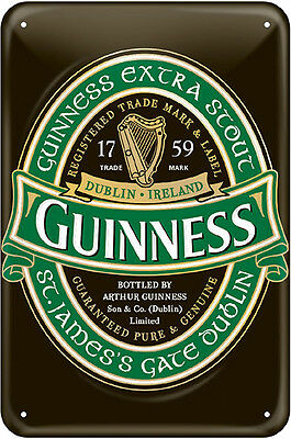 Guinness Metal Sign-Ireland Label