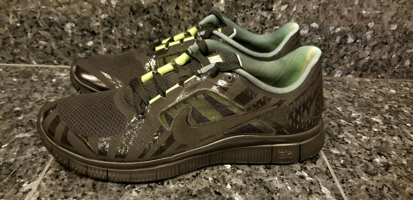 2012 NIKE FREE RUN + 3 III HURLEY NRG BLACK VOLT YELLOW 553548-003 SUPER RARE!!!