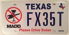 Texas DRIVE SOBER license plate DON't Drink And Drive Alcohol Bottle Drunk Beer