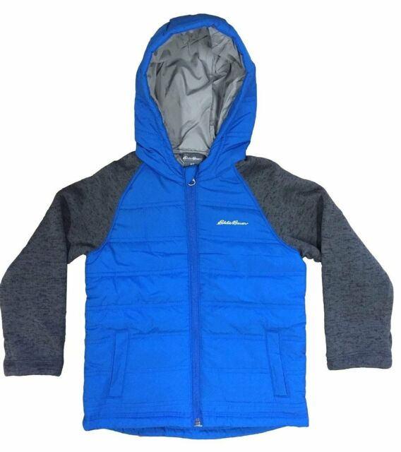 Blue Eddie Bauer Toddler Boys Hybrid Jacket Hoodie Coat Size 2T