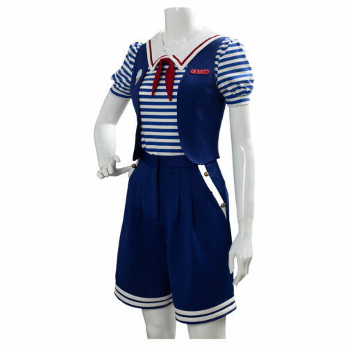 Stranger Things 3 Robin Scoops Ahoy Uniform Cosplay Costume Fancy Dress Outfit