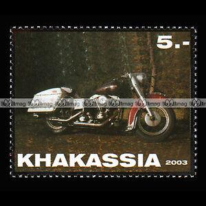 CUSTOM BIKE KHAKASSIA 2003 Timbre Moto / Motorcycle Stamp #395 - France - CUSTOM BIKE KHAKASSIA 2003 Timbre Moto / Motorcycle Stamp #395 - France