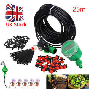 25m Garden Self Watering Diy Automatic Irrigation System Drippers