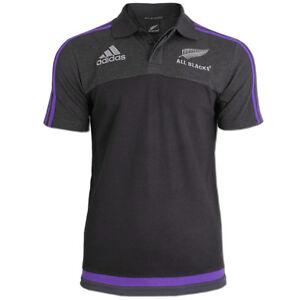 Details zu adidas Herren Shirt All Blacks Polo Poloshirt Neuseeland Rugby Team