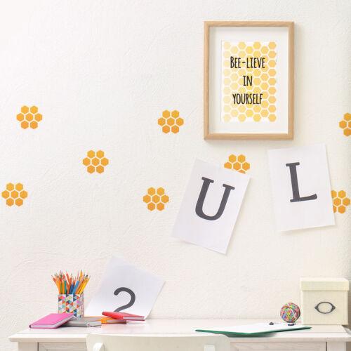"""2.8 cm//Aprox 1 /""""craftstar plantilla de fondo de nido de abeja Panal Stencil"""
