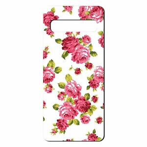 For-Samsung-Galaxy-S10-PLUS-Silicone-Case-Flowers-Floral-Rose-Pattern-S822