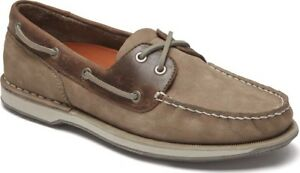 f96c4d94b7 Rockport Perth Boat Shoes (Men s) - Taupe Nubuck Beeswax Leather ...