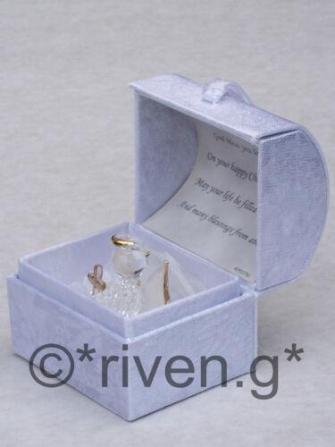 CHRISTENING GIFT ideas for Boys /& GIRLS Baptism Crystal Angel GIFT /& GOLD Cross