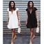 Womens-Short-Sleeve-Casual-T-Shirt-Mini-Dress-Ladies-Summer-Loose-Tops-Blouse thumbnail 2