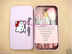 866c4eea4 7pcs/sets Pink Hello kitty Makeup brush suit Cute cartoon box New ...