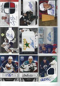 Autograph Auto RC LOT mix of 9 UD Hockey Cards Bogosian Boyle Reinhart Signature
