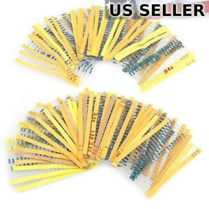 600-Pack-1-4W-1-Metal-Film-Resistors-Assortment-Pack-30-Values-10-1M-Ohm
