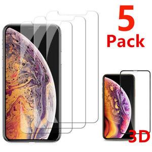 iPhone 5 6S 7 8 Plus X XS XR MAX 11 PRO Vitre Protection Verre Trempé Film Ecran
