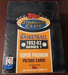 1992-93-Topps-Stadium-Club-NBA-Basketball-36-Pack-Series-1-Box-Brand-New-Sealed