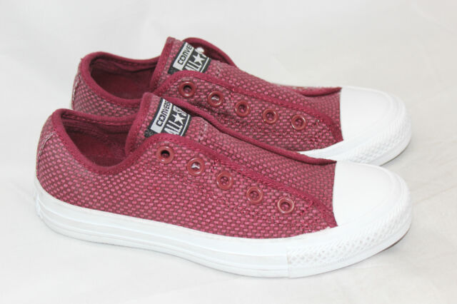 1c798c28924 Womens Converse Ox Woven Slip On Laceless Sneaker - Oxheart Red 5US (S33)
