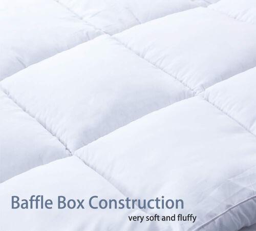 """3/"""" Extra Thick Mattress Topper Pillow Top Down Alternative Matress Pad Cotton"""