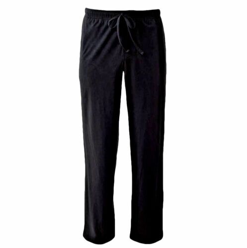 $55 CLUB ROOM Men/'s PAJAMA PANTS BLACK SOLID FLEECE LOUNGE SLEEPWEAR SIZE M