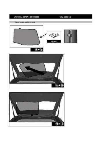 92-00 Heckscheibe Sonnenschutz für Opel Corsa 3-Türer BJ Blenden hinten