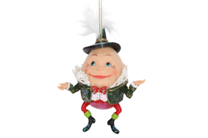 Gisela Graham Humpty Dumpty Conte de Fées en résine pendaison arbre de Noël Décoration