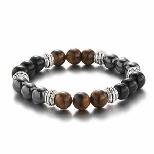 Magnetic Healing Hematite Tiger Eye Bracelet Bangle Pain Relief Weight Loss Gift