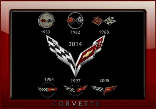 MAGNET  Automobile Fridge PHOTO MAGNET Corvette Emblem 1953 to 2014