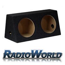 "12"" MDF Twin Sub Box Subwoofer Enclosure Bass Empty Enclosure Black Double"