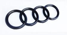 Audi Rings Matte Black Grill Front A3 S3 A4 S4 RS4 A5 S5 A6 S6 TT Badge Emblem