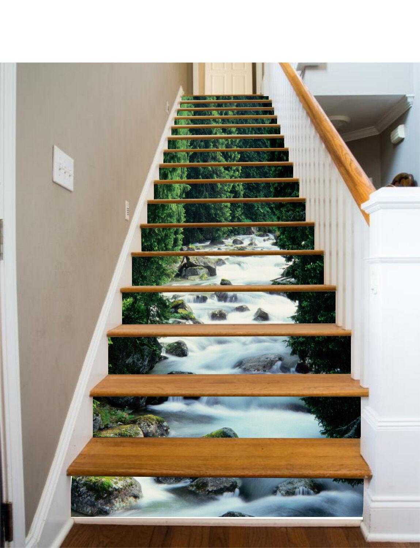 3D Tree flow 3525 Stair Risers Decoration Photo Mural Vinyl Decal WandPapier UK