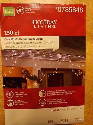 Christmas lights..Holiday living..LED..150ct banner lights..warm white