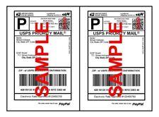 200 Half Sheet Shipping Labels Self Adhesive 85 X 11 Blank 2 Labels Per Sheet