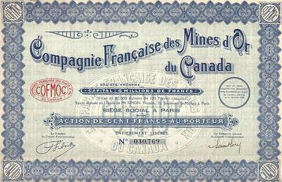 Original Uruguay France Bond 1906 Mines Rivera 100 fr Uncancelled coupons