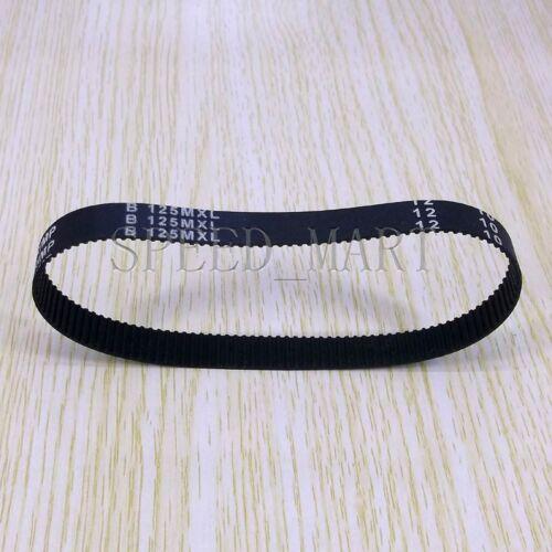 100MXL Timing Belt 125 Teeth Black Cogged PU Rubber Geared 10mm Width B125MXL