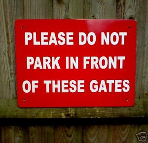 NO-PARKING-GATES-SIGN-40cm-x-30cm-Non-Bend-5mm-thick-Plastic-Superior-Quality