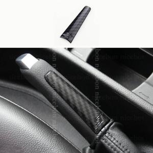 Carbon fiber color Parking Handbrake Hand Brake Handle Cover For Ford Focus MK3