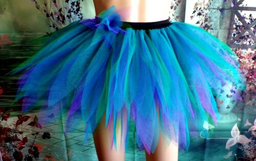 Hen Party//Festival//Carnival//Halloween S//M /& L Feathery Tutu Blue Green /& Purple