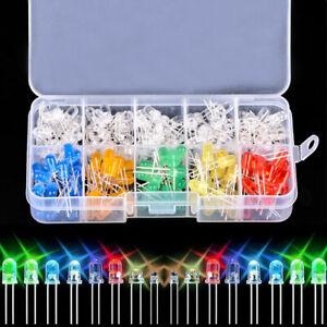 10-Value-200pcs-Six-colors-5mm-Round-Bright-Light-LED-Diode-Assortment-Kit-Set