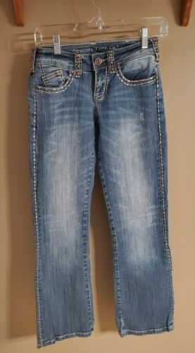 Cowgirl Tuff Thick Stitched Jeans, Size 24x31
