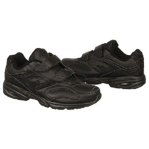 Avia Men's A340MB black walking shoes work shoes Sneakers 7.5 Extra WIDE 4E New